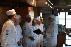 Pierre rallying the chefs