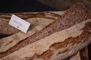 Purple barley flour, mesquite powder, pine nuts
