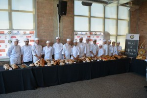 Everyone who made this work - the chefs and the student volunteers showing off an impressive buffet